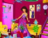 Жасмин убирает комнату