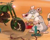 Крыса на мотоцикле