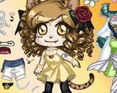 Девушка-Кошка - одевалка