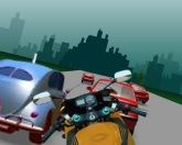 Мотоманьяк на шоссе