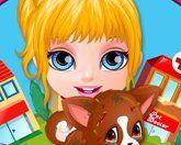 Барби лечит щенка