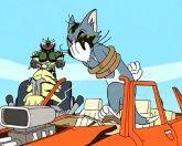 Том и Джерри с тачкой