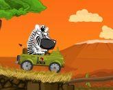 Зебра на тачке