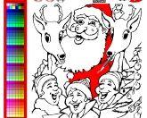 Санта-раскраска