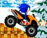 Соник - езда по снегу