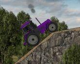 Трактор и полоса препятствий