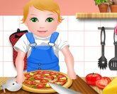 Джульетта готовит пиццу
