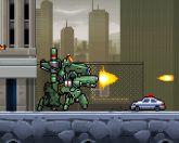 Шагающий робот в городе
