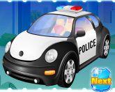 Полицейская тачка на мойке